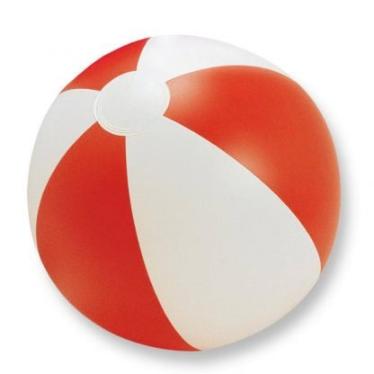 pelota balon jugar playa plastico rojo