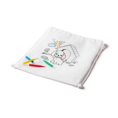 petate mochila colorear marcadores colores infantil