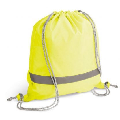 petate mochila cordones reflectante amarilla naranja