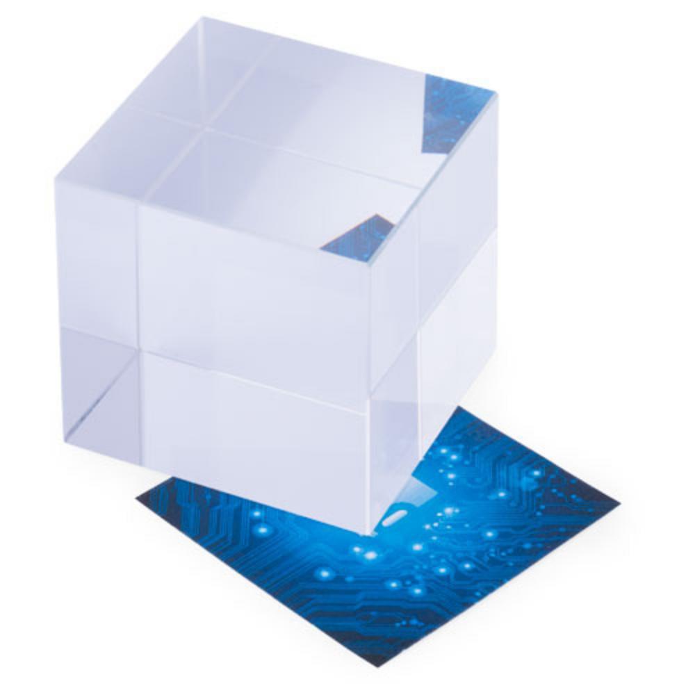 pisapapeles cristal cubo estuche