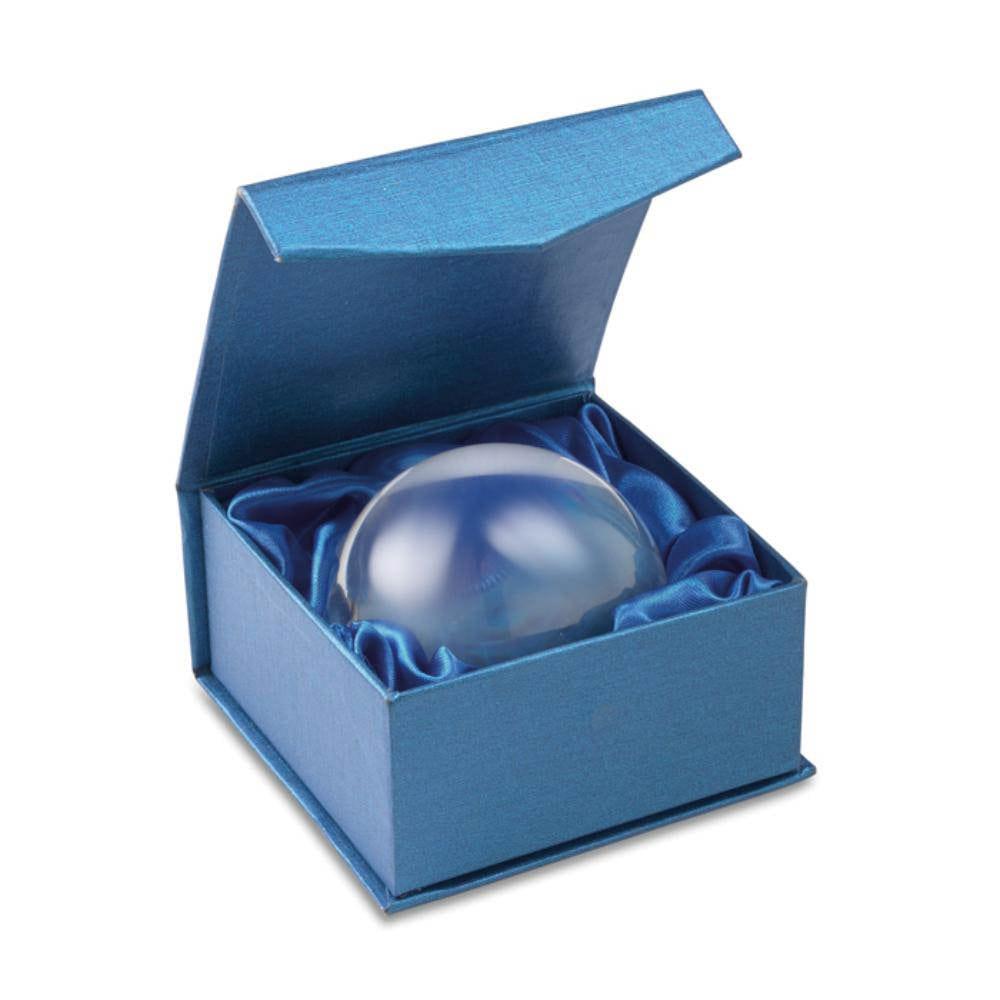 pisapapeles cristal media esfera estuche