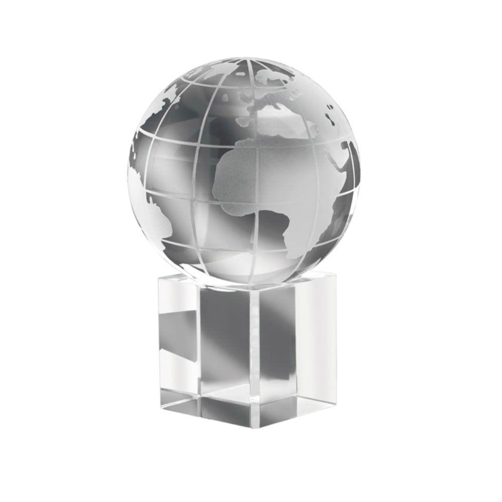 pisapapeles cristal mundo caja regalo