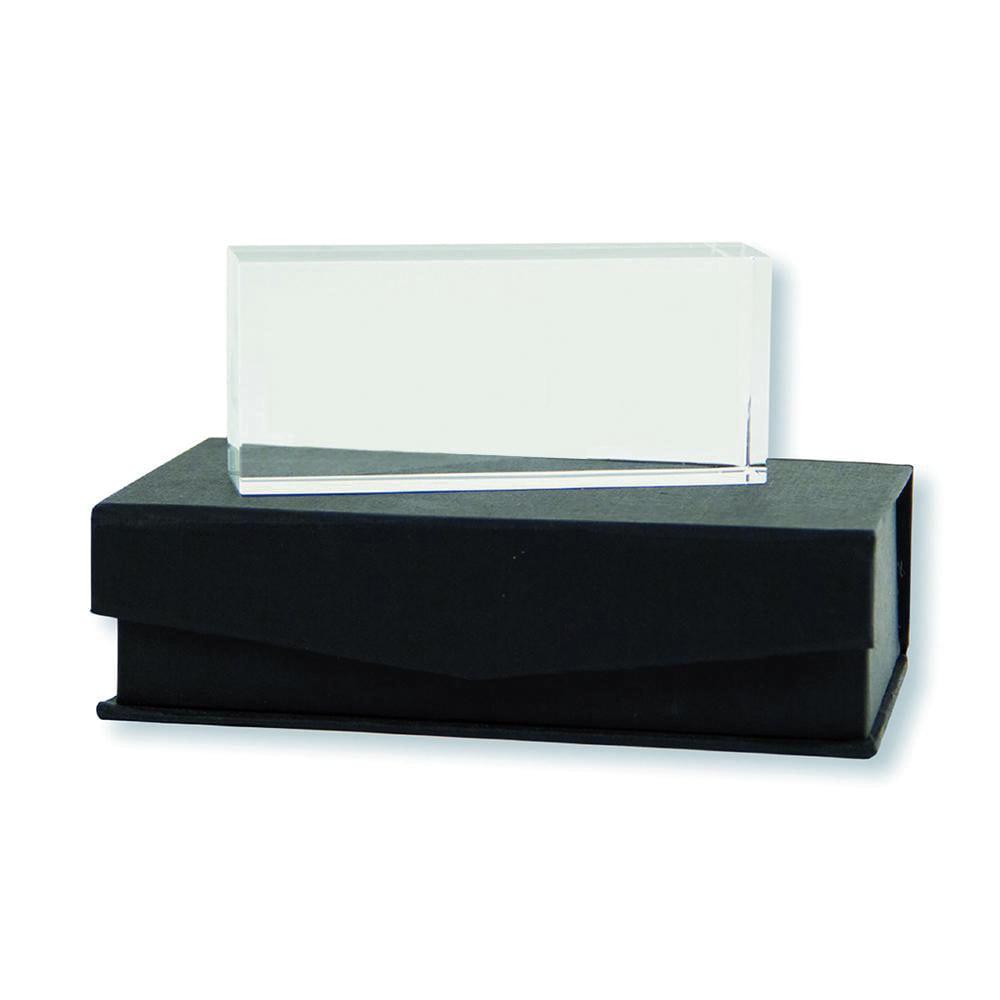 pisapapeles cristal rectangular con logo