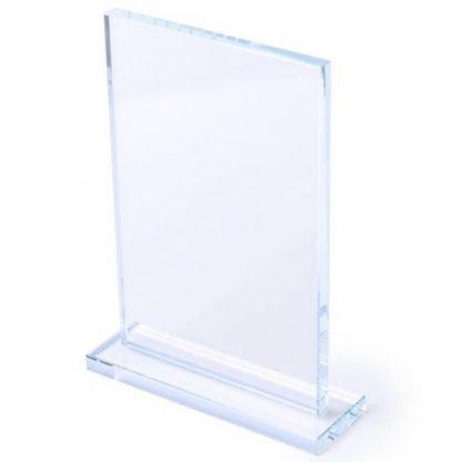placa cristal cajita trofeo