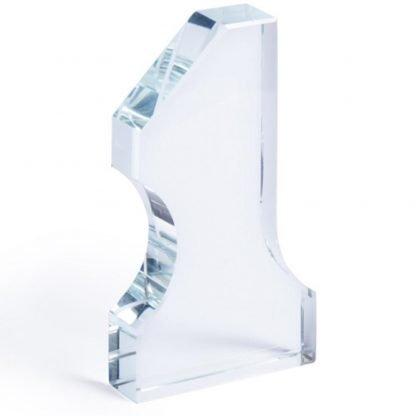 placa trofeo cristal cajita numero