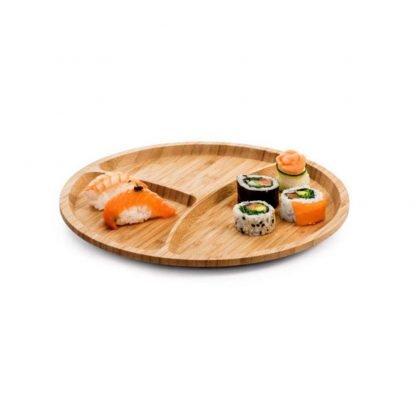 plato ovalado bambu