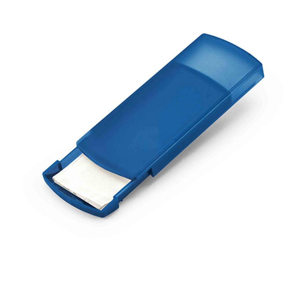 porta tiritas unidades azul blanco