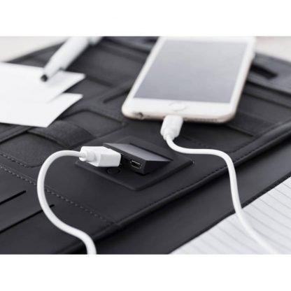 portadocumentos conexión micro usb powerbank mah