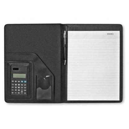 portafolios a calculadora polipiel boligrafo