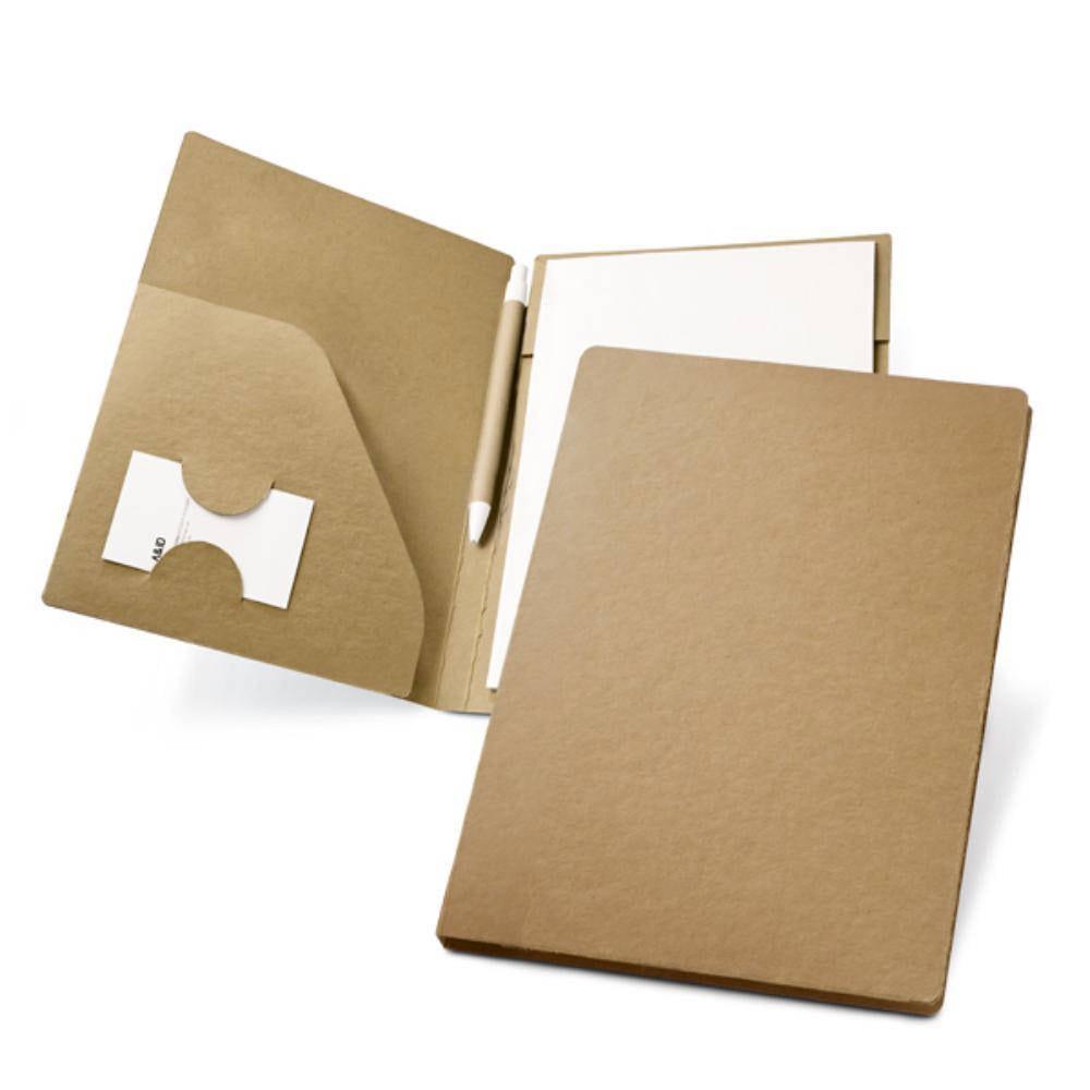 portafolios carton A bloc boligrafo reciclaje