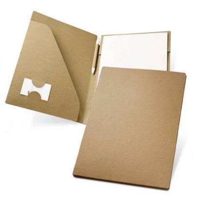 portafolios carton bloc papel reciclado boligrafo