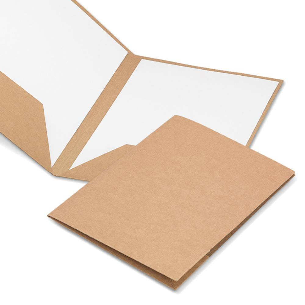 portafolios carton reciclado natural oficina