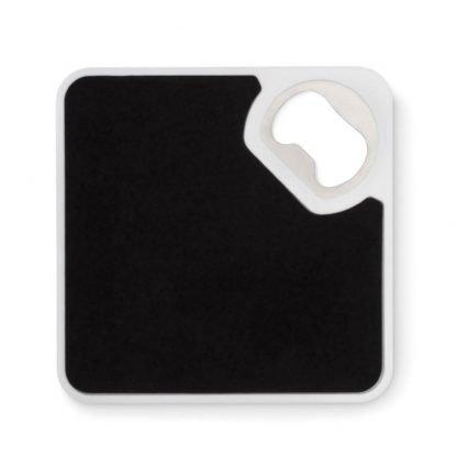 posavasos abridor cuadrado blanco negro