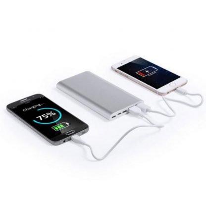 powerbank tablet calidad plata cargador