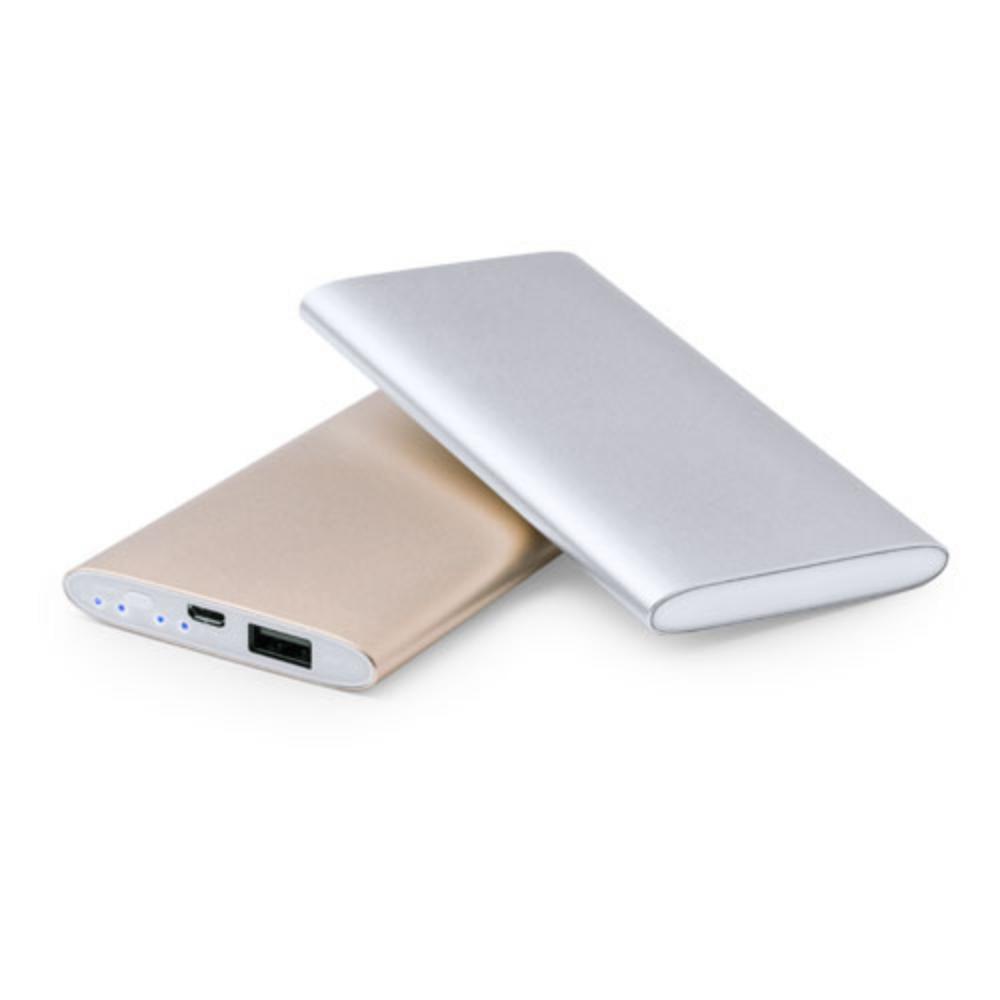 powerbank aluminio dorado plateado calidad