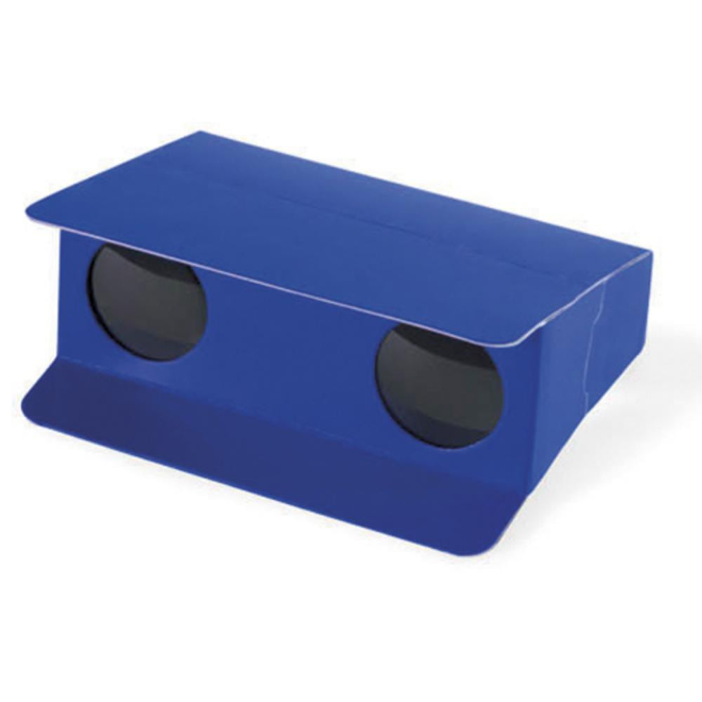 prismaticos carton rojo azul amarillo blanco