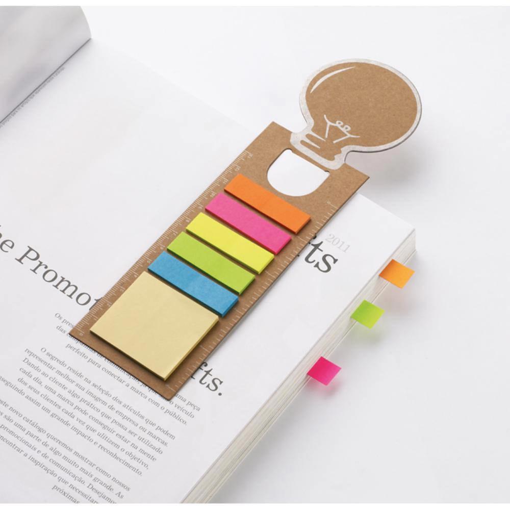 punto libro forma bombilla notas adhesivas