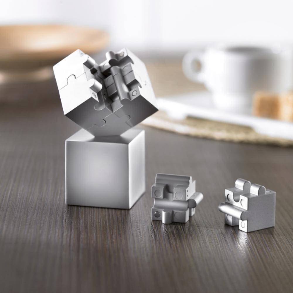 puzzle cubo magnetico metalico pisapapeles