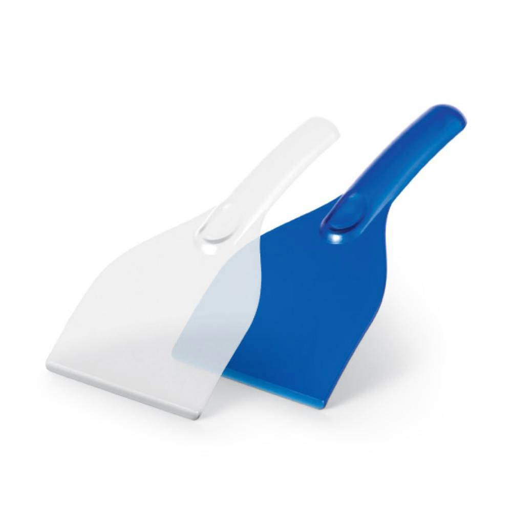 raspador hielo plastico translucido azul