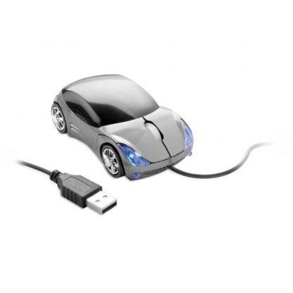 raton optico forma coche luz