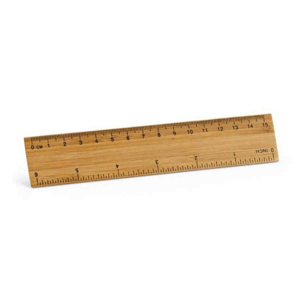 regla bambu cm madera