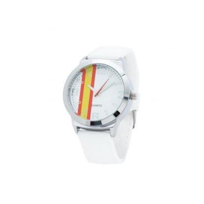 reloj blanco bandera espana correa silicona