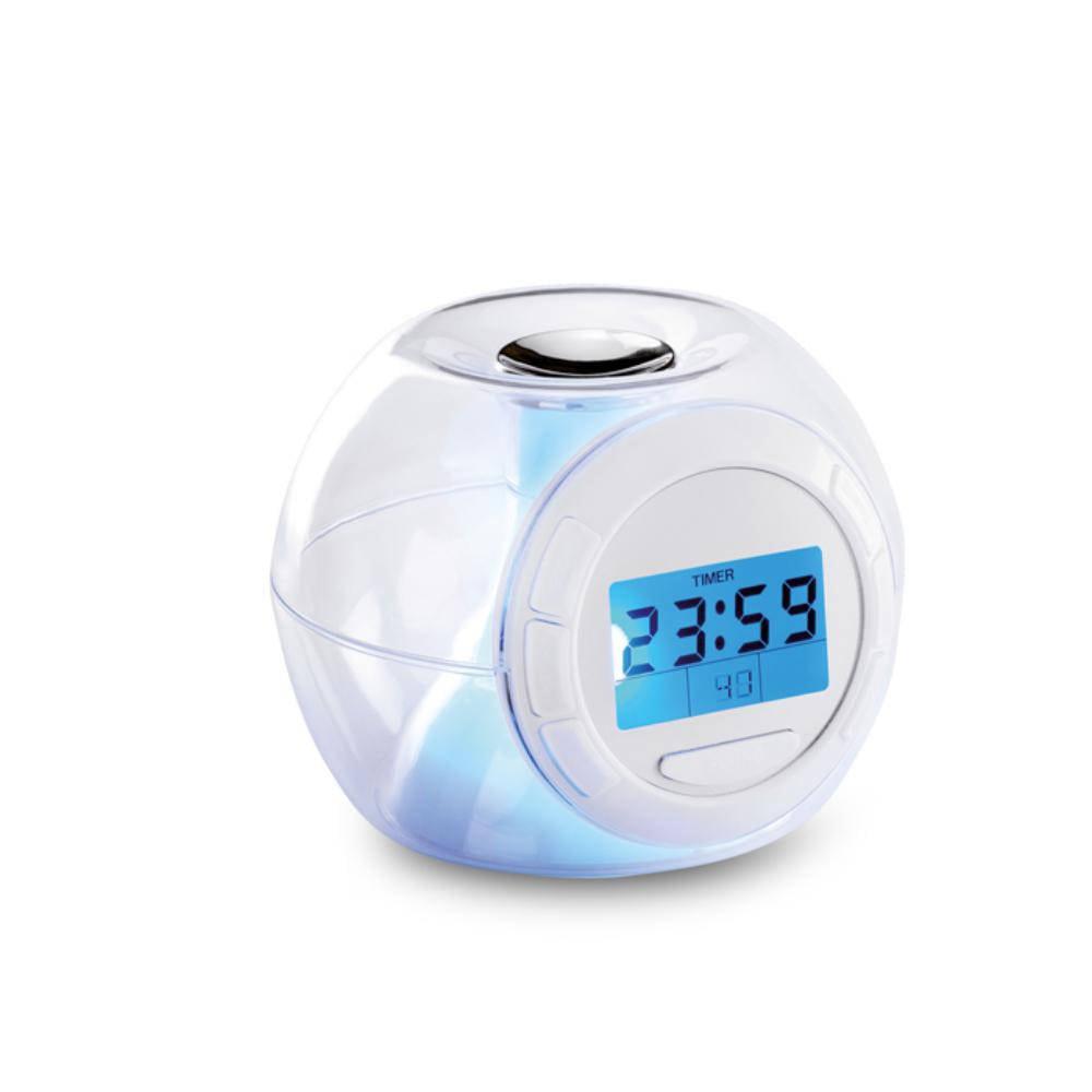reloj despertador temperatura calendario alarma luces