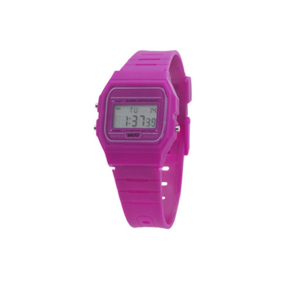 reloj estilo casio moderno plastico colores