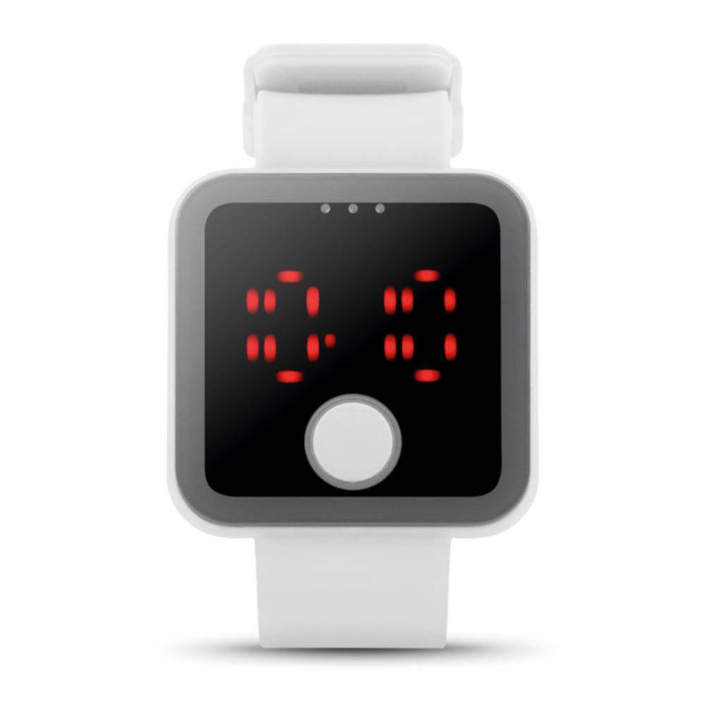 reloj luz led correa silicona