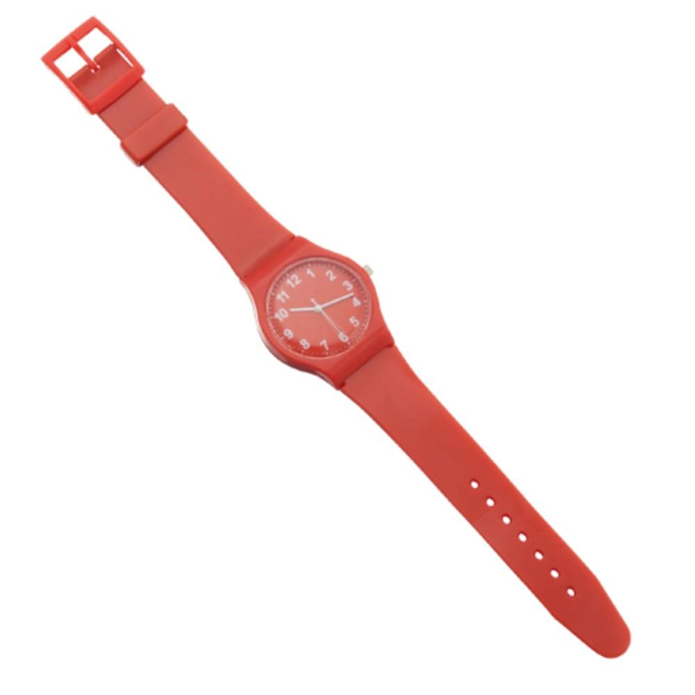 reloj pulsera plastico rojo azul blanco