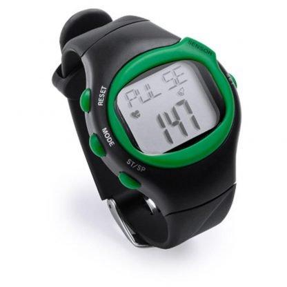 reloj pulsometro alarma calorias negro rojo azul