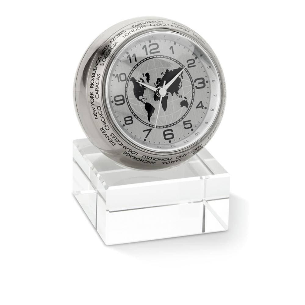 reloj sobremesa analogico globo terraqueo