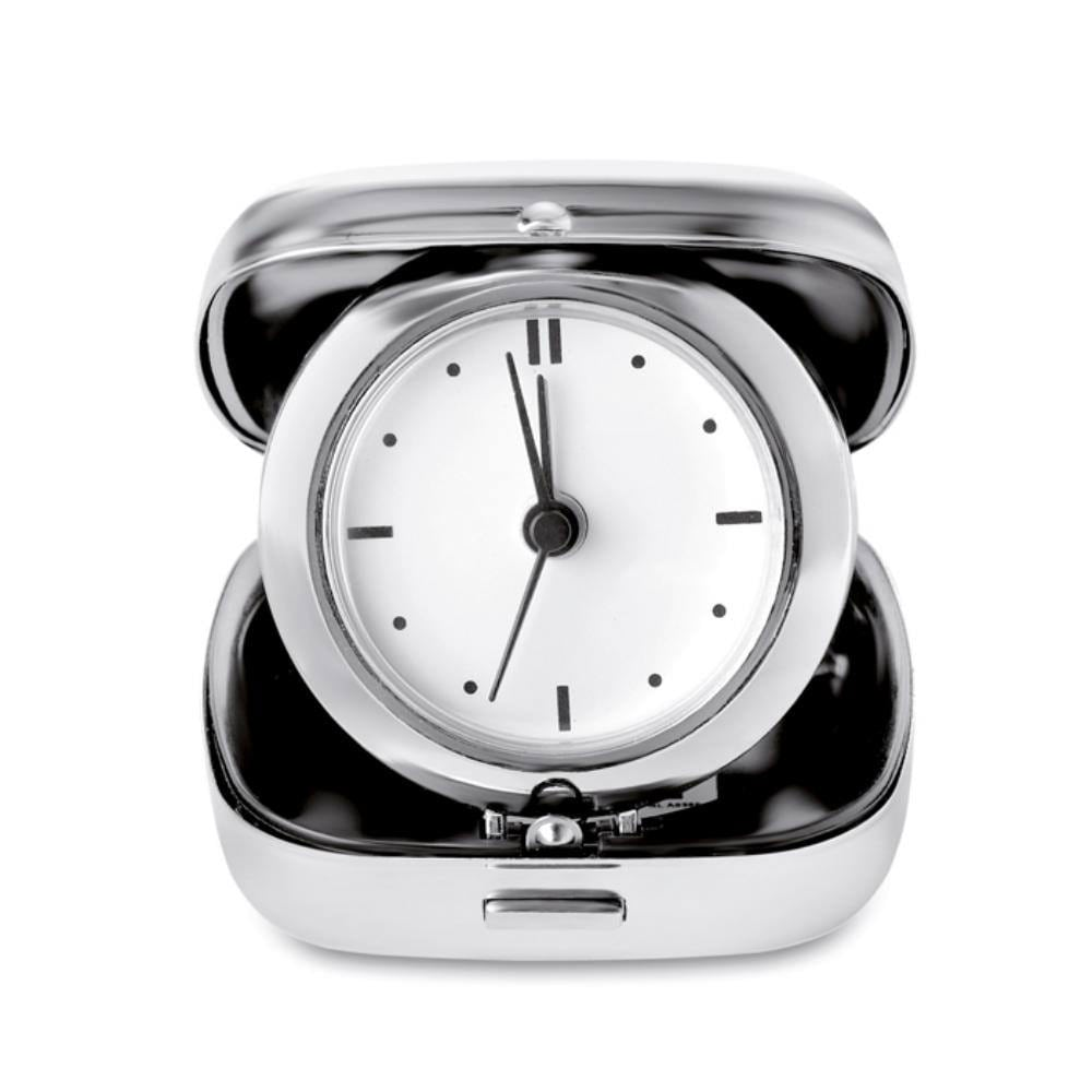 reloj viaje metalico despertador cajita