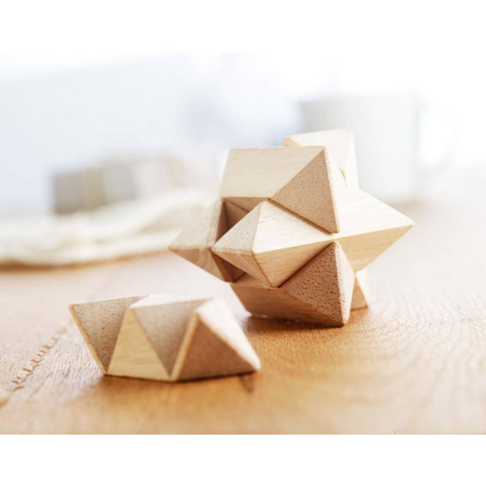 rompecabezas madera forma estrella