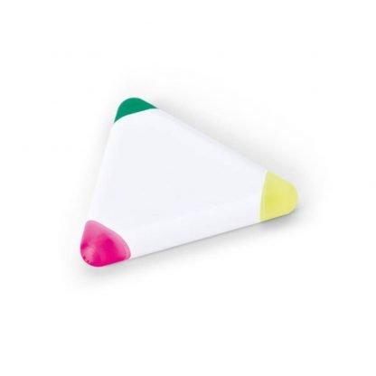 rotulador fluorescente triangular fucsia amarillo