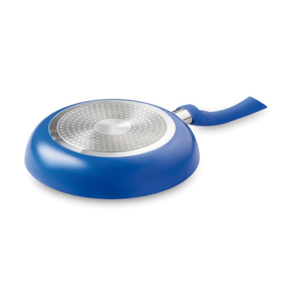 sarten cocina aluminio acero cm rojo azul