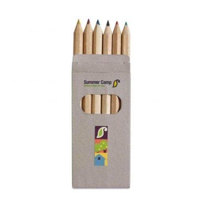 set lapices colores estuche carton