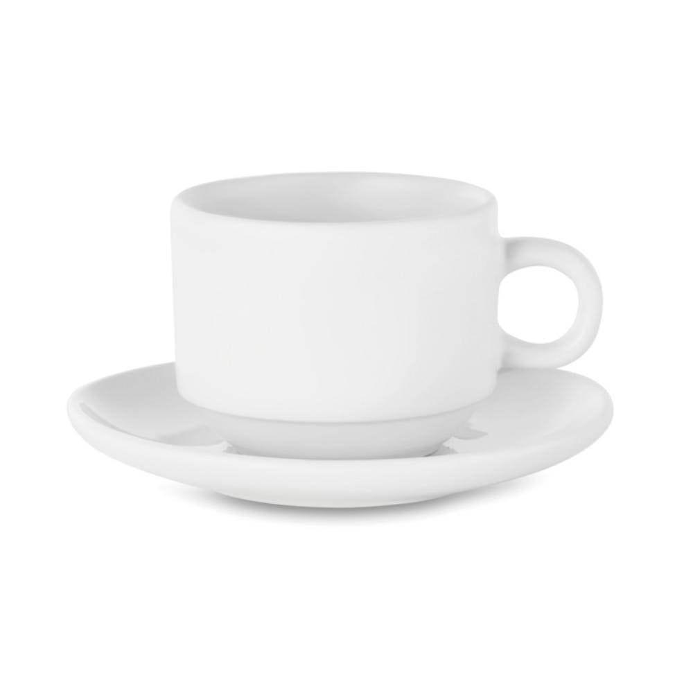 set cafe capuccino sublimar plato blanco