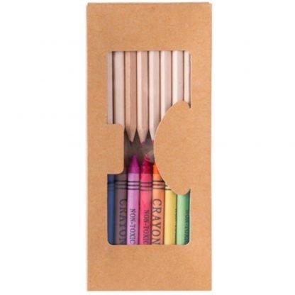 set carton ceras lapices colores piezas