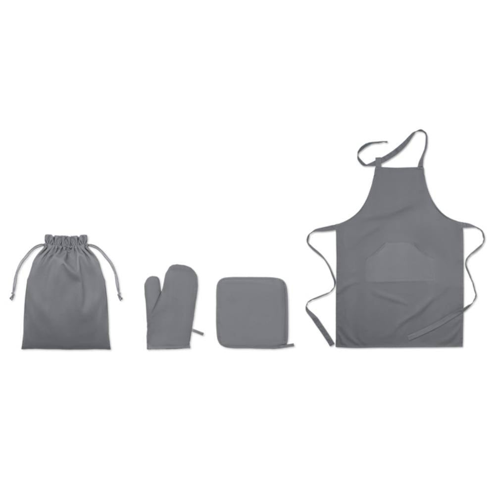 set cocina delantal agarrador cocina guante