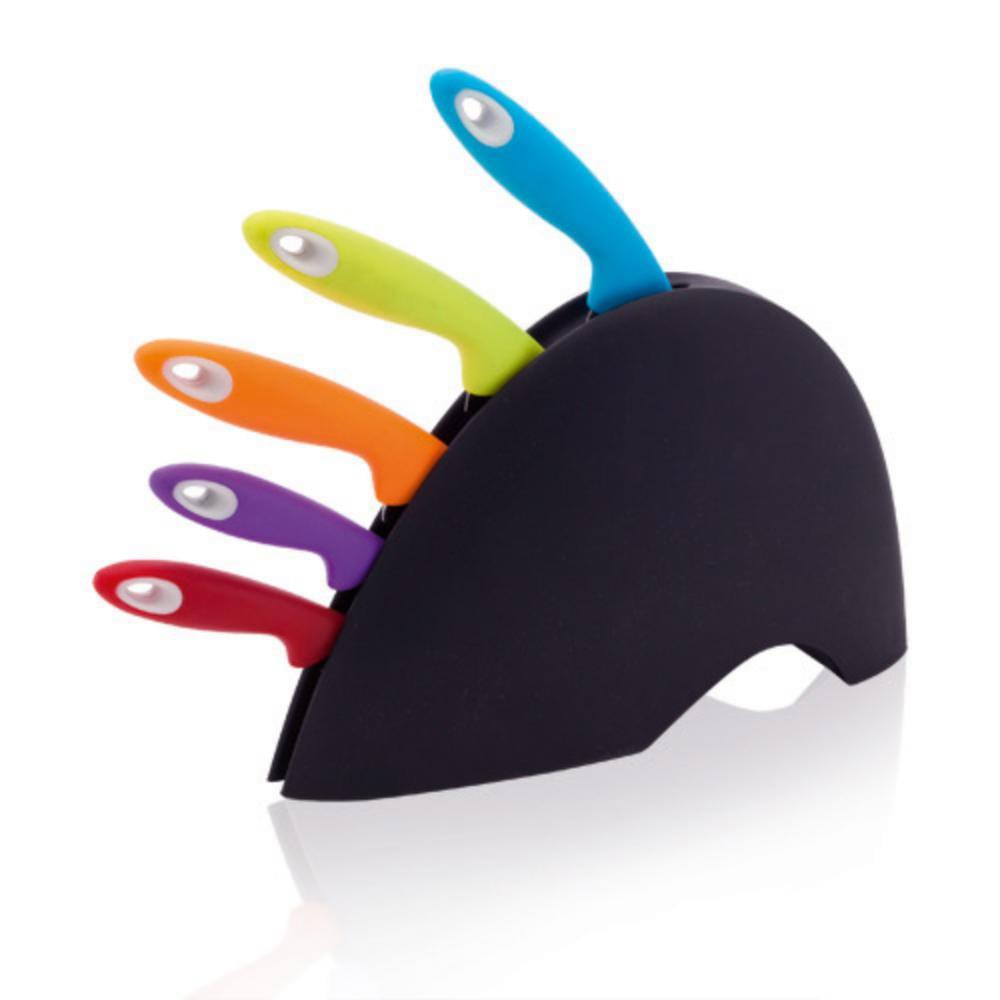 set cuchillos cocina piezas colores