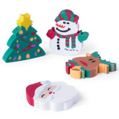 set gomas adornos motivos navidenos