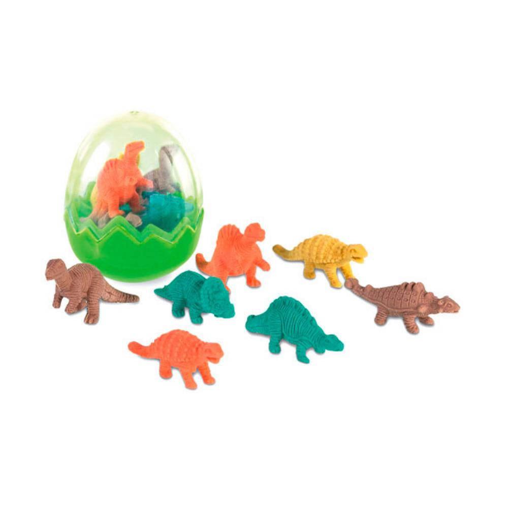 set gomas dinosaurios cajita borrar ninos