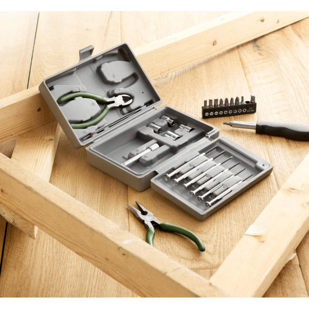 set herramientas piezas estuche