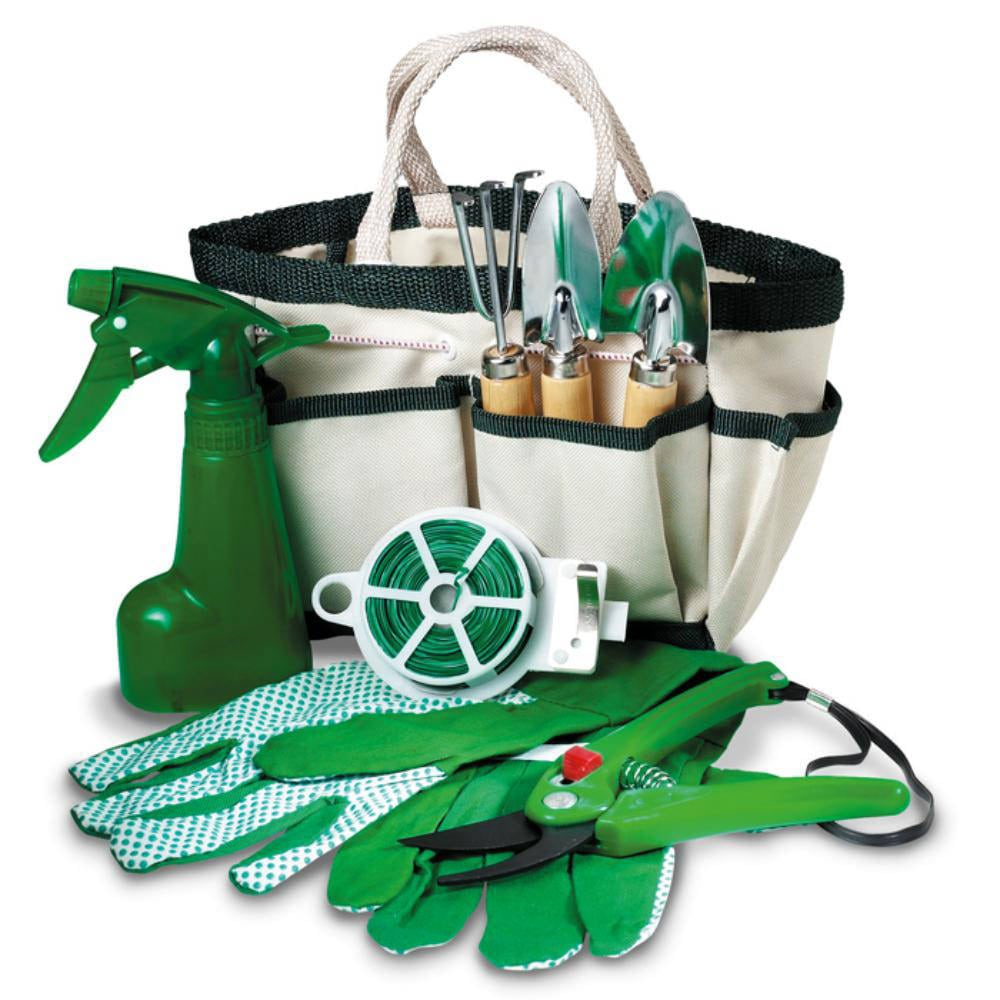 set herramientas jardin bolsa accesorios