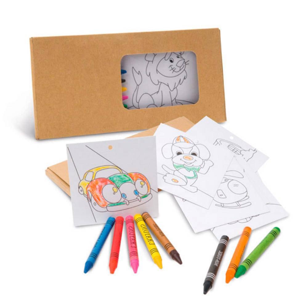 set infantil lapices carton colorear ninos