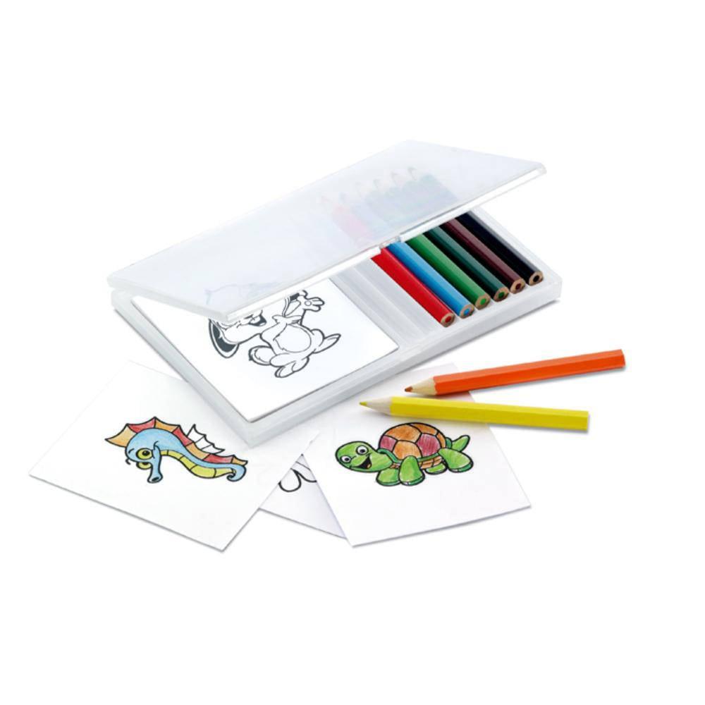 set lapices colores animales colorear