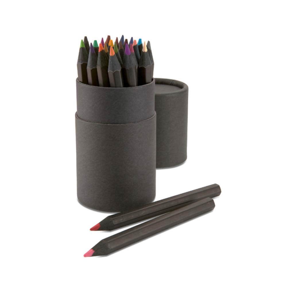 set lapices colores estuche negro