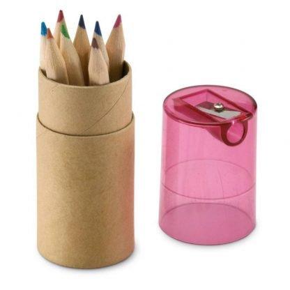set lapices colores estuche tubo
