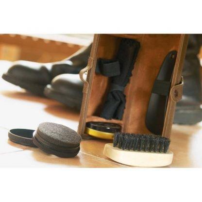 set limpieza calzados zapatos estuche
